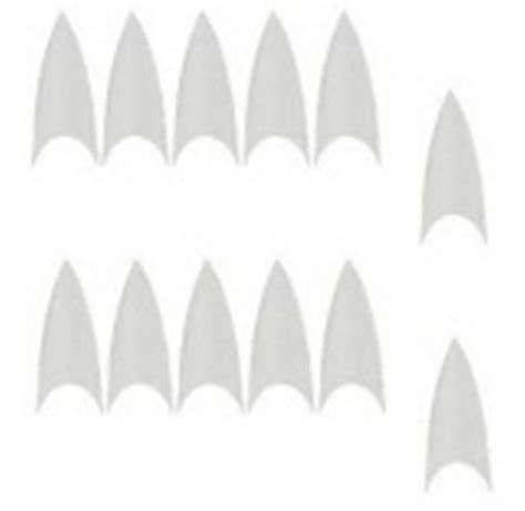 stiletto cut  nail pointed nail tips ct ebay