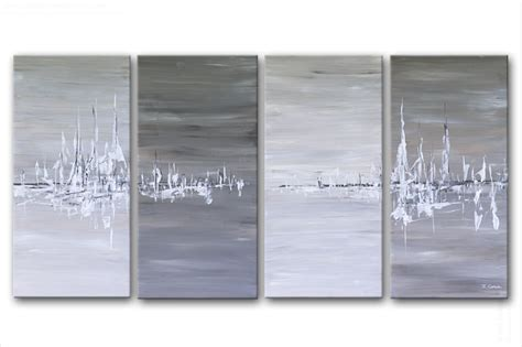 bureau gris taupe tableau moderne quadriptyque rectange gris terre d 39 ombre beige