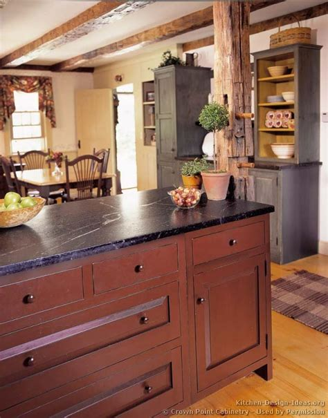 perfect red country kitchen cabinet design ideas for a rustic country kitchen in the early american style