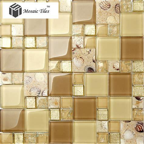 glass highlighter tiles for kitchen tst glass conch tiles golden glass tile for wall 6830
