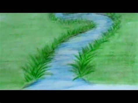 draw  river  colored pencils lesson  youtube