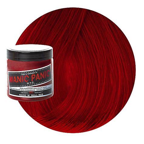 rock  roll red semi permanent cream hair color manic