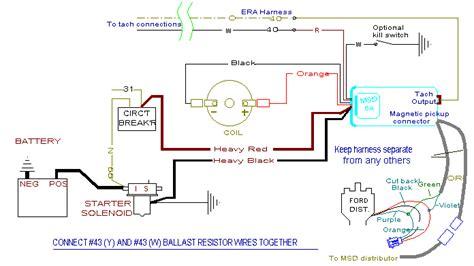 Msd Coil Tach Wiring by Msd Installation