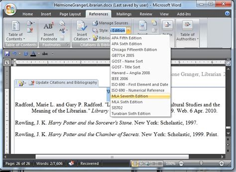 apa referencing style using insert citation in ms word ppt how to write an apa paper in word 2010