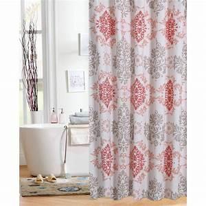 Mainstays Shower Curtains Walmart Com Coral Damask Curtain