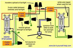Wiring Diagram For Ceiling Fan With Light