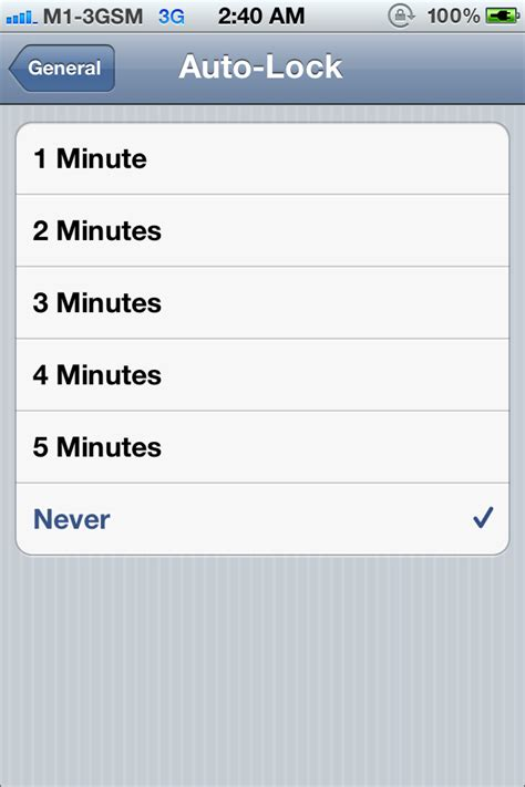 how to turn auto lock on iphone will quot never auto lock quot affect the of the iphone