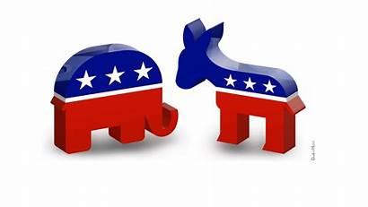 Republican Donkey Elephant Democratic Democrat Party Clipart