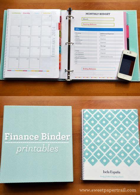 finance binder  printable pages instant