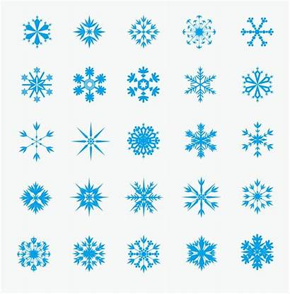 Ice Crystal Vector Graphic Snowflakes Clipart Winter