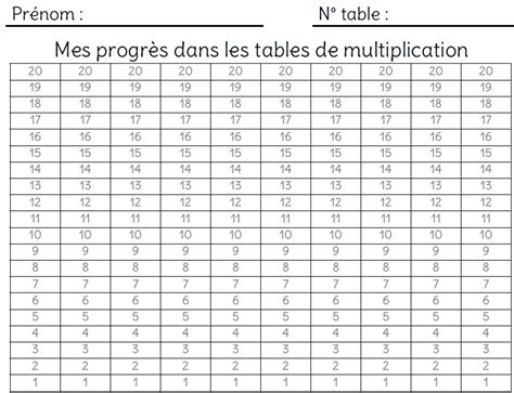 chions de tables de multiplication l 233 cole de crevette
