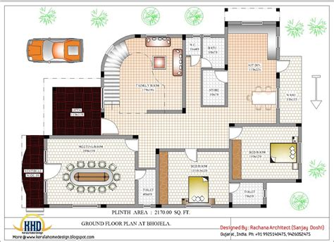 make floor plan luxury indian home design with house plan 4200 sq ft