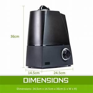 6l Air Humidifier Ultrasonic Cool Mist Steam Nebuliser