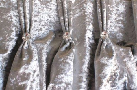 sle silver crushed velvet mtm curtains