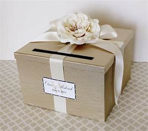 wedding card box champagne gold ivory money holder by With wedding box cards price