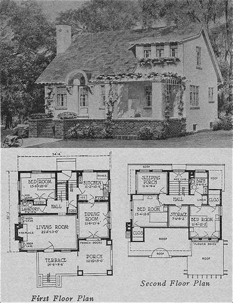 Photos And Inspiration Plan Of Bungalow by 1923 Cottage Bungalow Floor Plans I These Plans