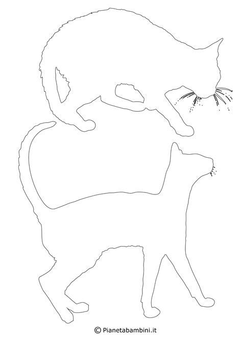 sagome  gatti da stampare colorare  ritagliare