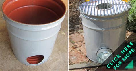 metal bucket rocket stove diy crafts