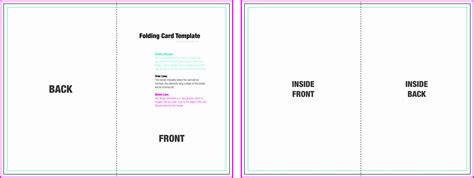 foldable card template word sampletemplatess