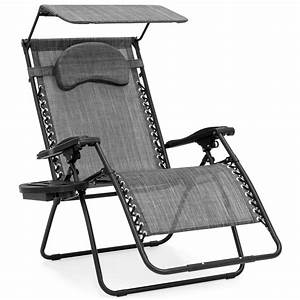 Best, Choice, Products, Oversized, Zero, Gravity, Reclining, Lounge, Patio, Chair, W, Folding, Canopy, Shade