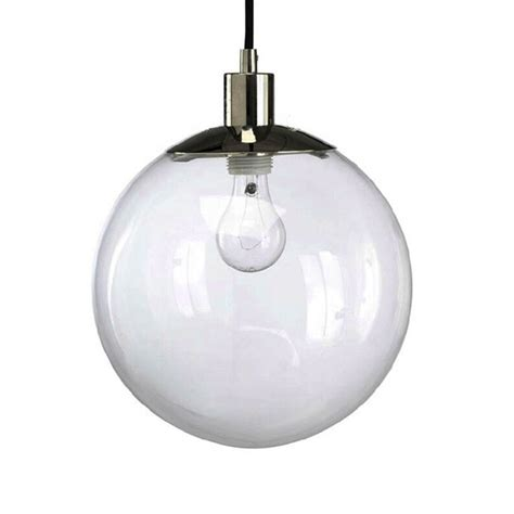 modern country clear glass orb pendant lighting in chrome