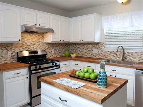 white cabinets with wood countertops wood kitchen countertops hgtv