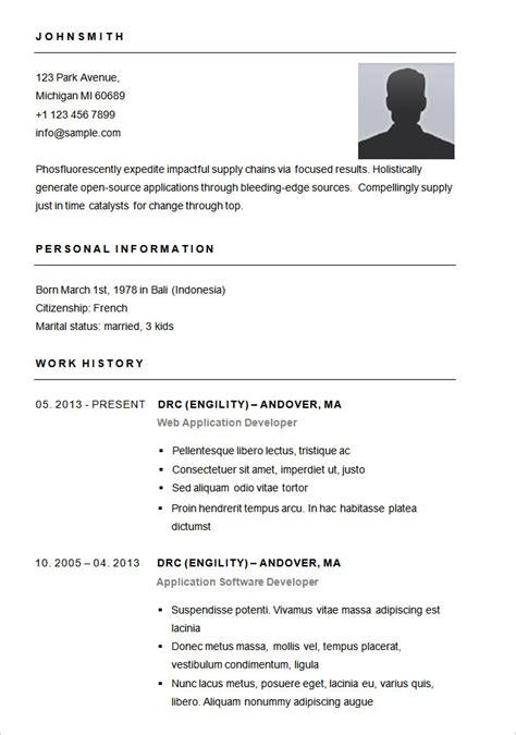 Basic Resume Template Word by Basic Resume Sle Format Best Resume Gallery