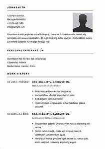 basic resume sample format best resume gallery With free resume samples in word format