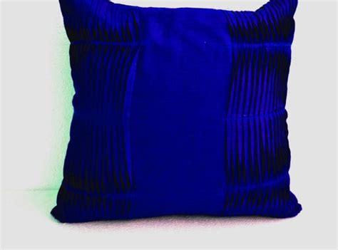 decorative cushion royal blue pillow cover cotton throw