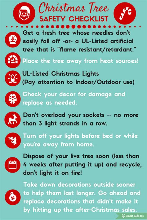 christmas fire safety checklist smart kids