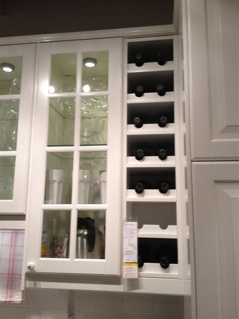 built in wine cabinet built in wine rack from ikea new house ideas