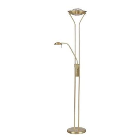 illumine designer collection 71 in brass halogen floor
