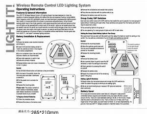 Fulcrum Ml09l Wireless Remote Control Led Light User