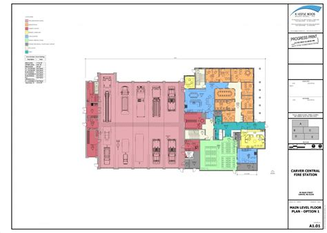 bureau plan station floor plans carver department