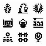 Production Mass Icons Factory Vector