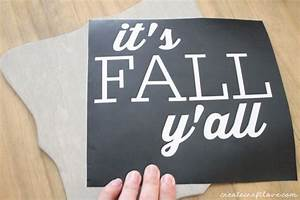 diy fall decor With adhesive vinyl letters michaels