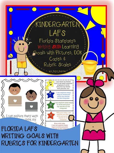 lafs fla kindergarten writing learning goals with 2 sets 240   8f1e21ca33b7c860a25d3523461566da