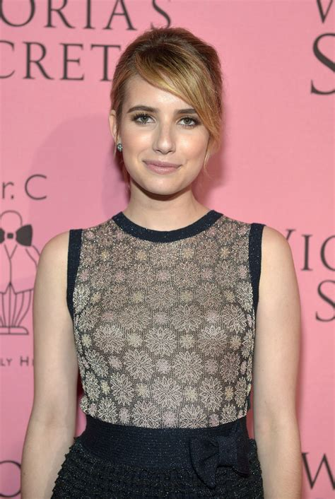 EMMA ROBERTS at Victoria's Secret Angels Reveal What's ...