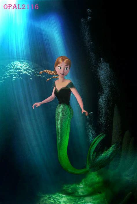 mermaid anna edit  opal  deviantart