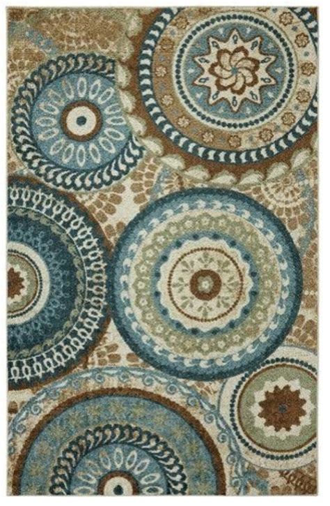 Teal And Brown Area Rugs by Mohawk Contemporary Forest Suzani Area Rug Area Rugs Houzz