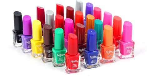 Foolzy 24 Different Nail Polish Orange, Black, Green, Dark