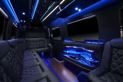 mercedes sprinter limousine   passengers san francisco party buses  party bus bay