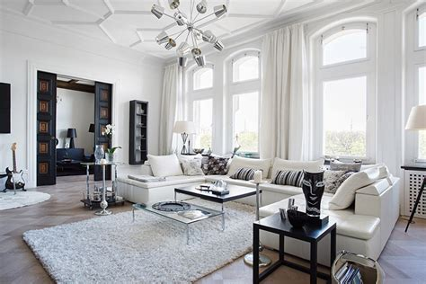 White Apartment by Black And White Apartment With Decor Details