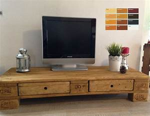 Lowboard Mit Schubladen : palettenm bel europalette tv lowboard tv schrank mit 2 schubladen ebay living pinterest ~ Watch28wear.com Haus und Dekorationen