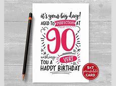 Printable 90th Birthday Cards Printable 360 Degree