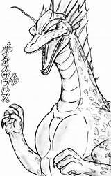 Titanosaurus Godzilla Coloring Deviantart Sketch sketch template