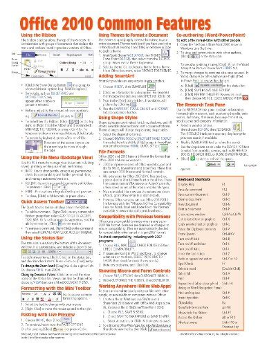 Office Cheats by Office 2010 Common Features Reference Guide