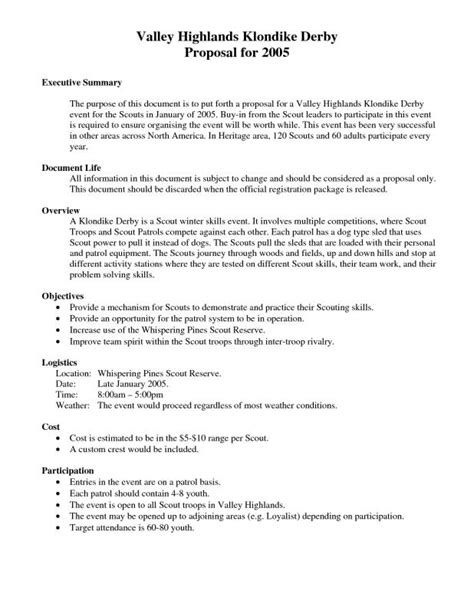 executive summary template  proposal template business