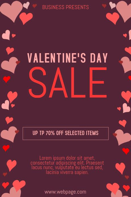 valentines retail poster templates postermywall