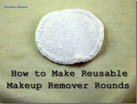 reusable makeup remover pads frugal living